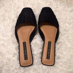Black Zara Sliders/Mules